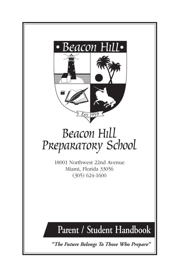 Beacon Hill Preparatory School Handbook Cover